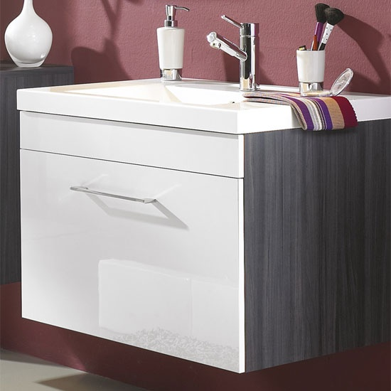 wall mounted with under counter sink Bathroom remodel ideas Pinte ...