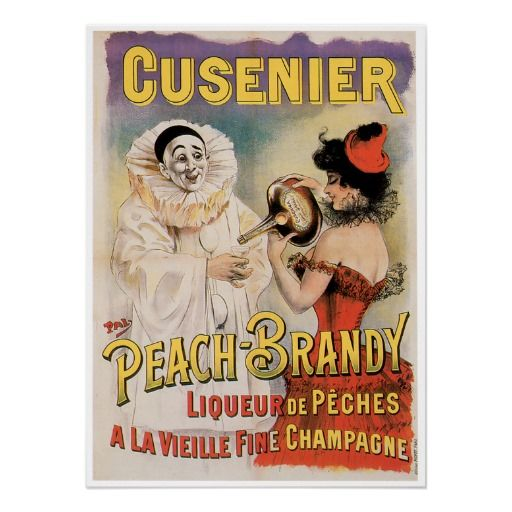 Cusenier Peach Brandy Vintage Wine Ad | Intoxicating | Pinterest