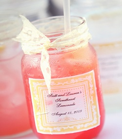 Sweetheart Lemonade in a Mason Jar