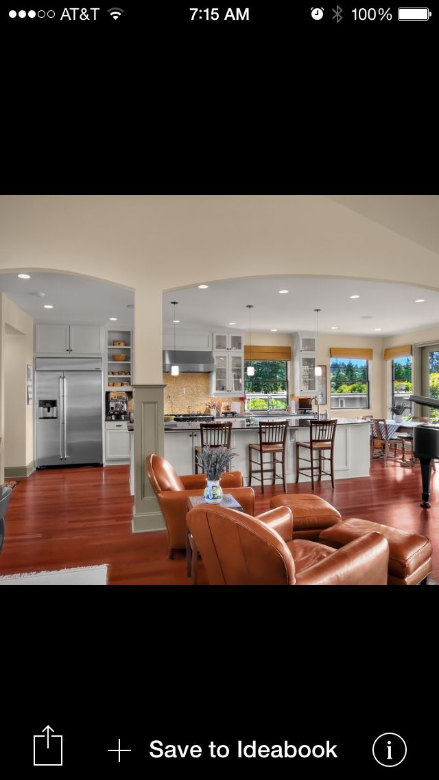 Pinterest discover and save creative ideas for Living room kitchen open concept