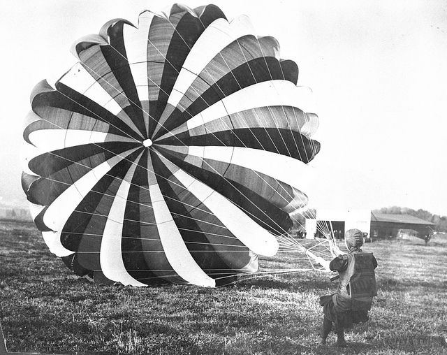 d day parachute jump