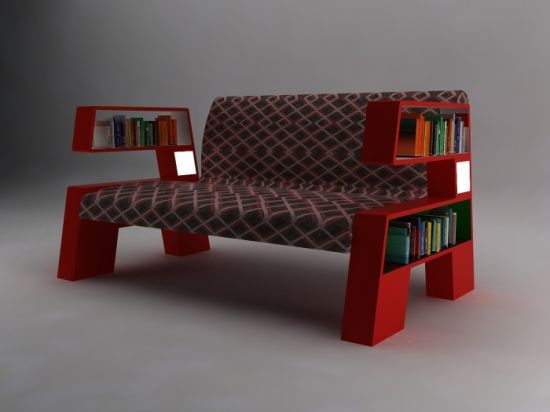 funky bookcase sofa funky furniture pinterest