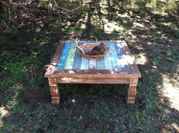 Rustic Coffee Table Beach Decor Weathered Wood by TimelessNchic, $199 ...