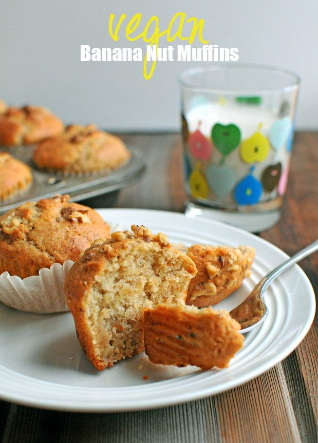 Delicious Banana Nut Muffins that happen to be vegan... and AMAZING!!
