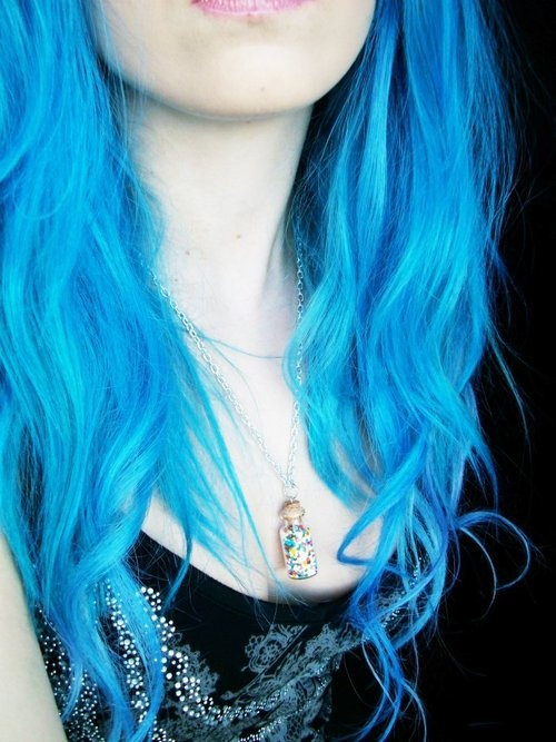 electric blue hair I want this next    Just the ends though of course    Electric Blue Hair