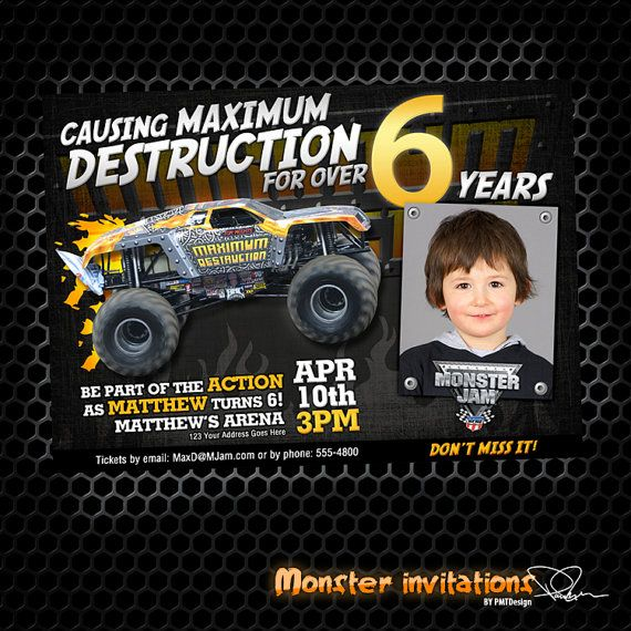 Monster Jam Birthday Invitations is one of our best ideas you might choose for invitation design
