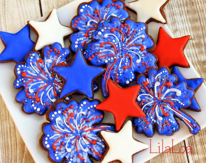 LilaLoa: Spectacular Fireworks Cookies