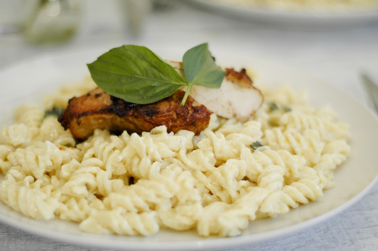 wikiHow to Make Grilled Chicken With Lemon Basil Pasta -- via wikiHow ...