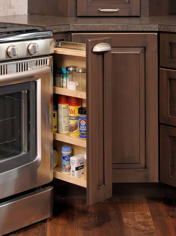 Pull out spice cabinet kitchen pinterest for Spice cabinet ideas