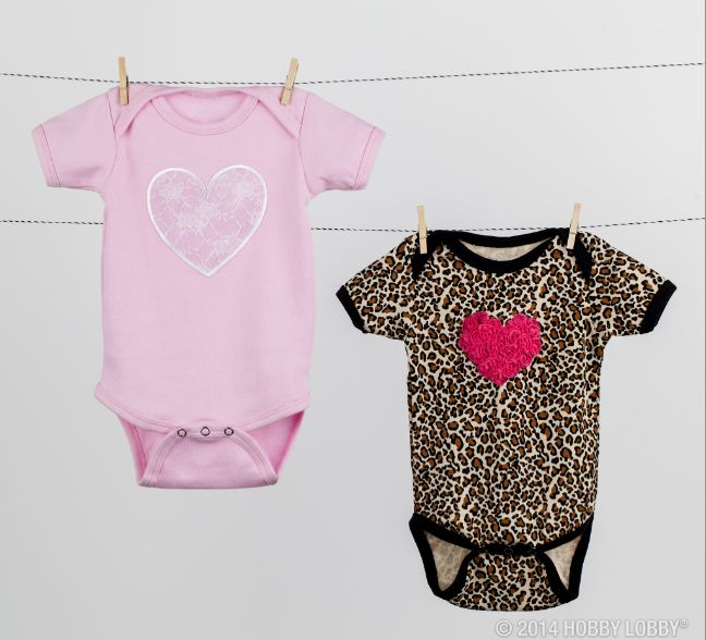 for a fun baby shower idea decorate onesies with appliques and iron