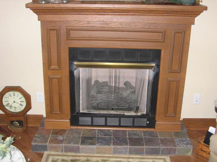 Slate Tile For Fireplace Hearth Home Pinterest