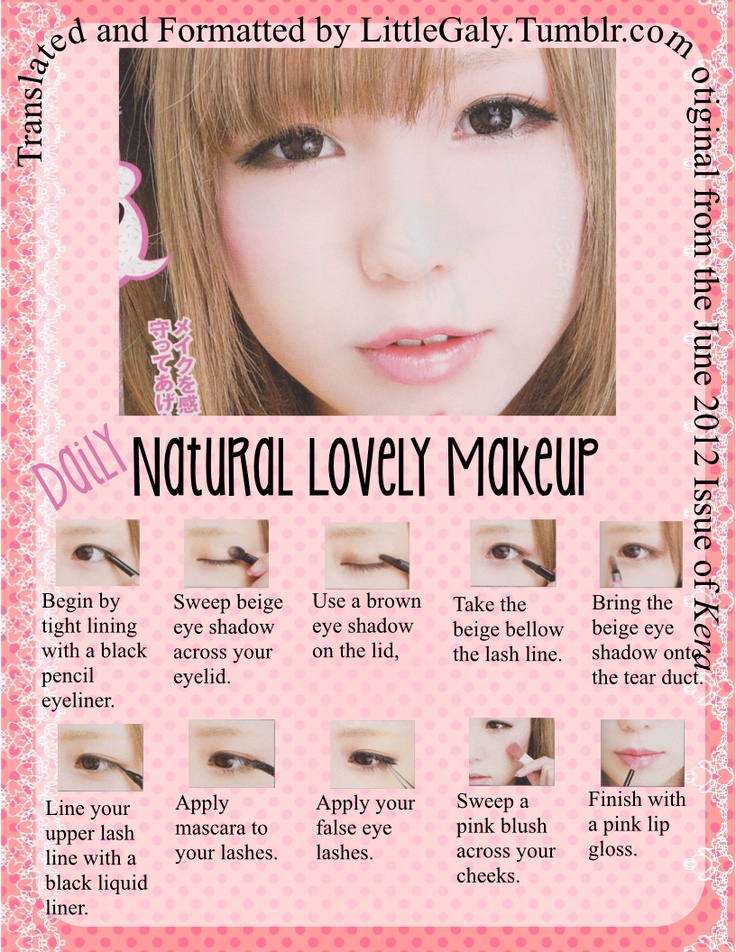 Natural tutorial Makeup natural japanese makeup