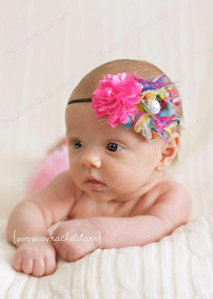 Baby Headband Bows Infant Skinny