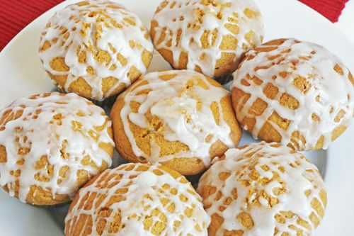 Vanilla Glazed Pumpkin Muffins | Recipe