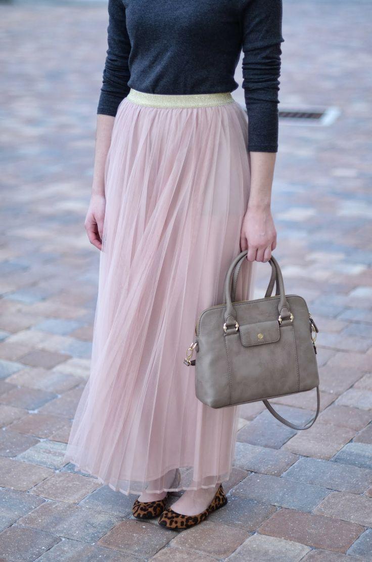 Bramblewood Fashion ❘ Modest Fashion Blog: What I Wore || Tulle + Glitter for Christmas