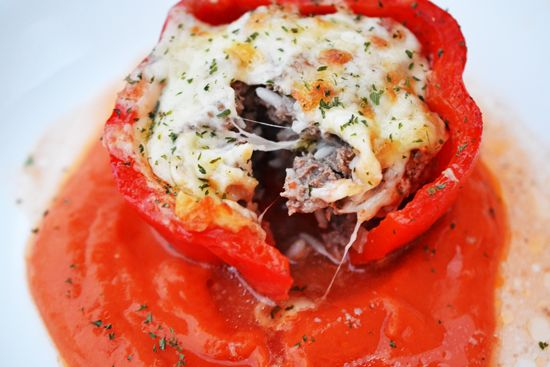 "Mom's Famous Stuffed Bell Peppers""- Not my mom but these look good ..."