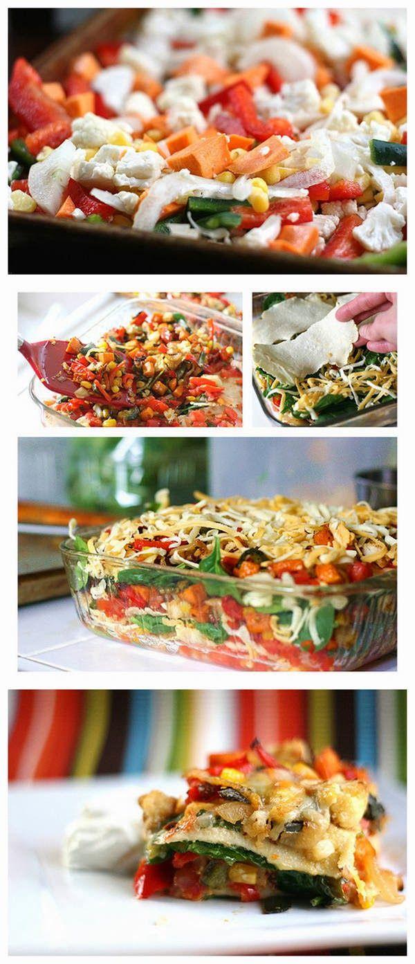 ... more about vegetable enchiladas, roasted vegetables and enchiladas