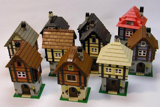 medieval houses lego castles pinterest