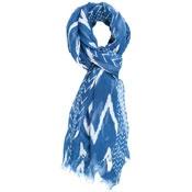 Chevron Stripe Scarf            - Blue