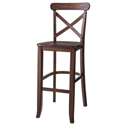 French Country X Back Bar Stool Espresso