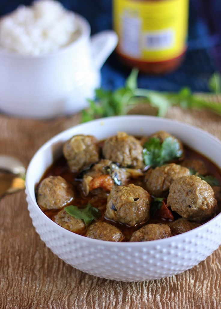 Blessings From My Kitchen: Turkey Meatball Curry