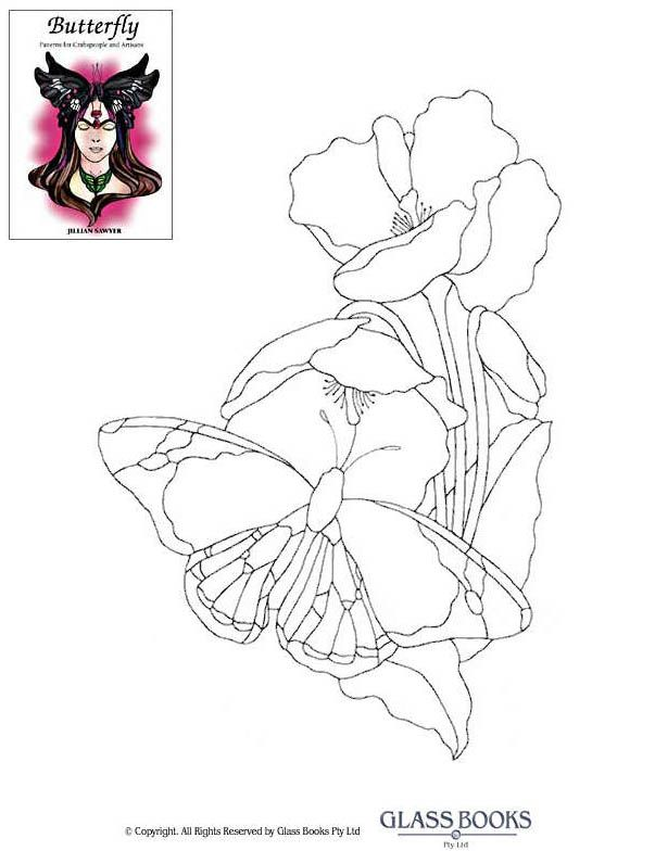 Трафареты, эскизы и шаблоны витражей - Эскизы витражей Glass Books - Эскиз витража 1 Art - One Stroke Painting Pinterest Шаблоны