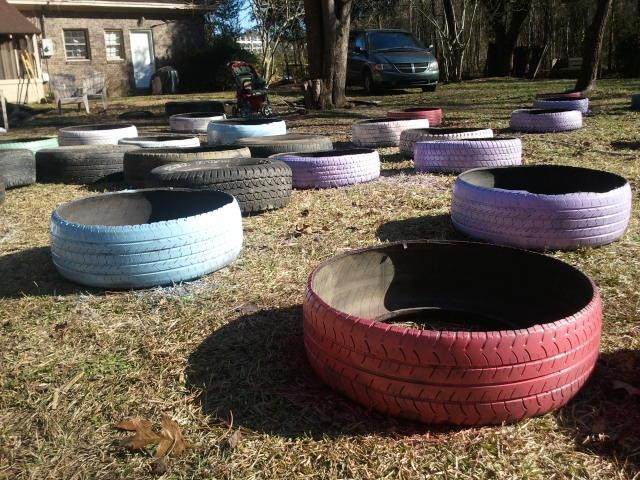 Painting tires for our garden garden pinterest - Painted tires for gardens ...