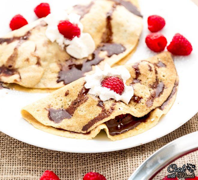 Raspberry Nutella Crepes   Recipe