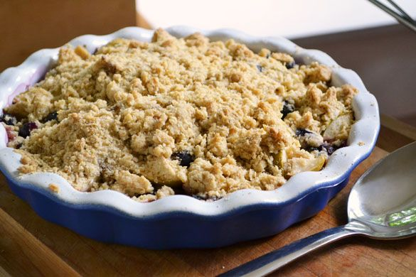 Apple Blueberry Crumble recipe | things to try... | Pinterest