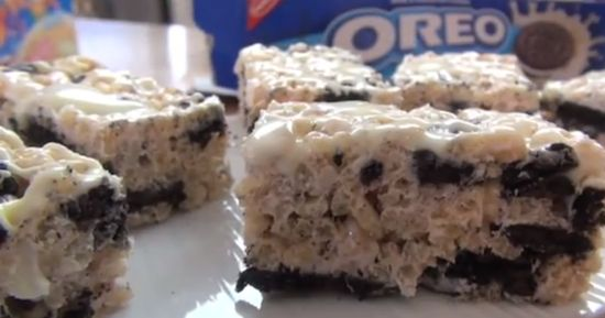 Cookies and Cream Rice Krispie Treats | Favorite Recipes | Pinterest