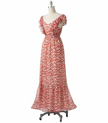 Kohls Coupon: Extra 20% Off Site wide + 99¢ Shipping at Kohls.com  LC Lauren Conrad Cherry Chiffon Maxi Dress  original $72.00  after coupon $23.04 + .99 cent shipping!  CHRISSY P,  THIS REMINDS ME OF YOU:)