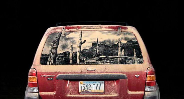 Dirty car artist.