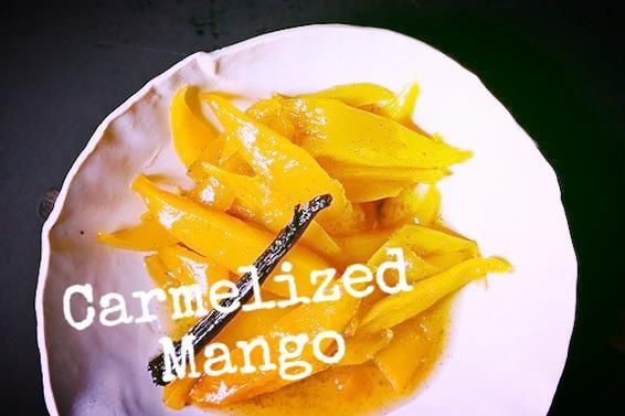 Rum-Spiked Roasted Caramelized Mango | Recipe