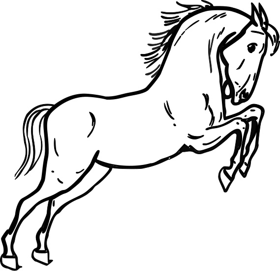 coloring pages wild horses - photo#12