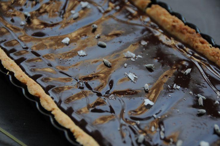 dark chocolate, lavender & honey tart | Only Lavender | Pinterest