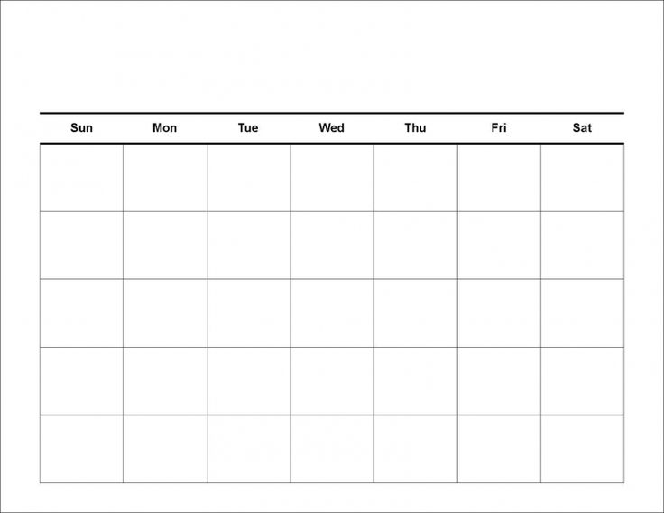 Blank Calendar Pages 2017 – 2018 printable calendars