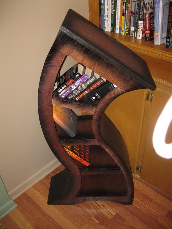 Sale 100 Dollars Off Free Shipping Handmade 4ft Curved Bookshelf Oak