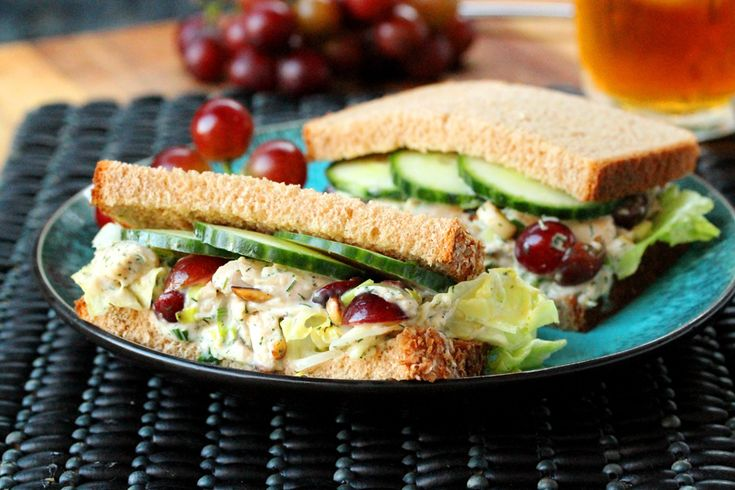 DILL AND TOASTED ALMOND CHICKEN SALAD SANDWICH