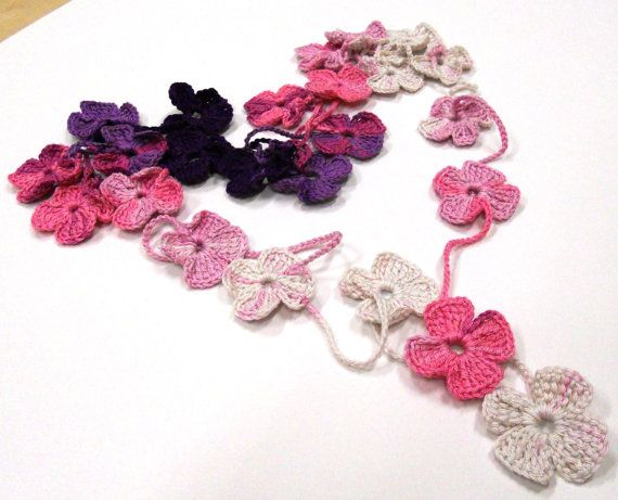 Crochet Patterns Pdf : PDF Crochet Pattern - Crochet Flower Scarf PDF Pattern. FOUND THE ...