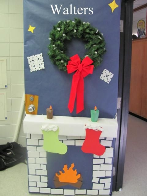 decorating door for christmas | Christmas Decorating Contest Flyer ...