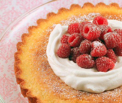 Simple Moist Almond Cake Delicious topped with berries or peaches!!!