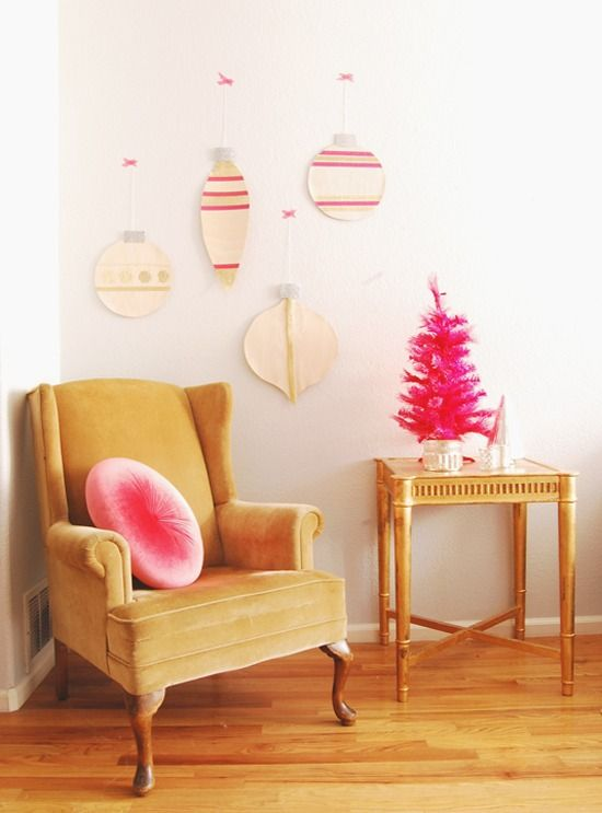 How to: Make Giant Wood Veneer Christmas Ornament Decorations