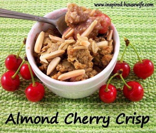 Almond Cherry Crisp | Gluten Free | Pinterest
