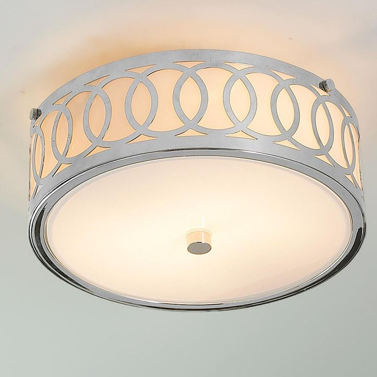 Ceiling Light Shades Masters : Small interlocking rings flush mount ceiling light