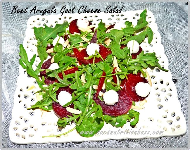 Heart Healthy Roasted Beet with Wild Arugula & Goat Cheese Salad # ...