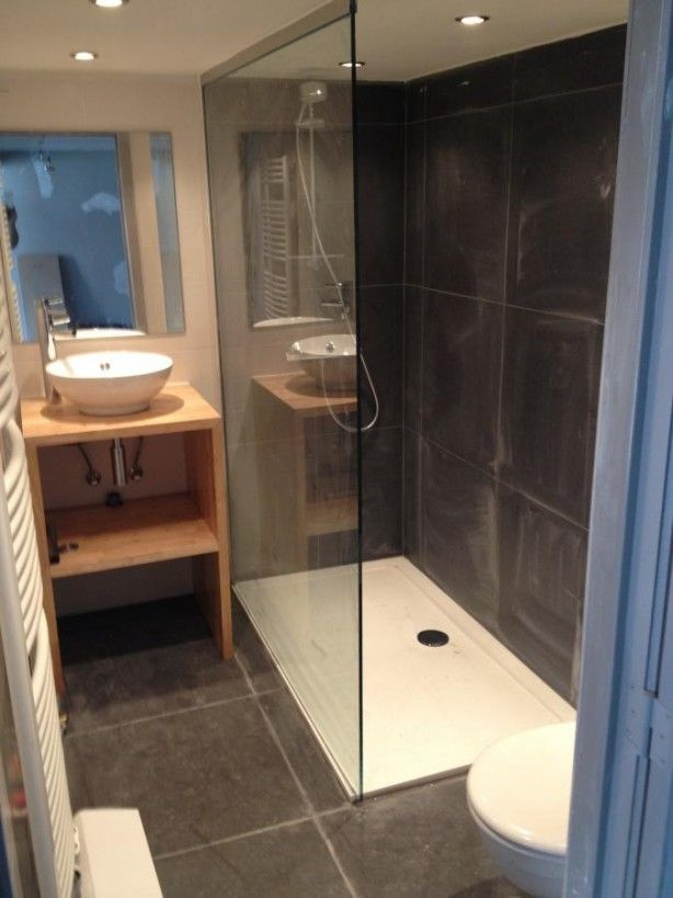 Voorbeeld van een kleine badkamer badkamers pinterest - Lay outs badkamer ...