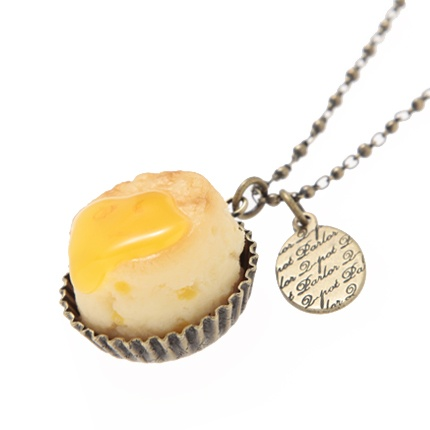 scone with jam necklace