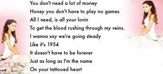 ariana grande tattooed heart lyrics song lyrics
