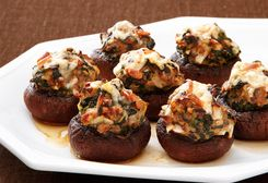 Stuffed Baby Portabella Mushrooms | Let's Cook! | Pinterest