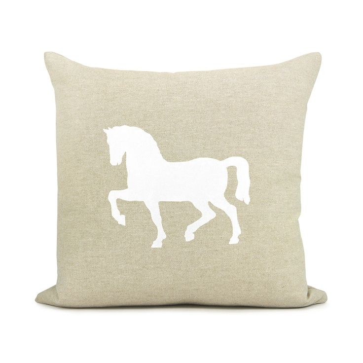 Decorative Horse Pillows : Horse pillow cover, French country home, Rustic decor, Decorative thr?